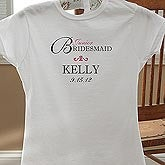 Personalized Junior Bridesmaid Wedding T-Shirt - 10342