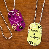 Peace Sign© Personalized Dog Tag-Set of 2