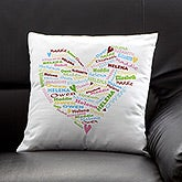 Her Heart of Love© Personalized Linen Pillow