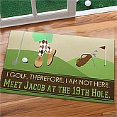 Personalized Doormats for Golfers - Gone Golfing - 10367