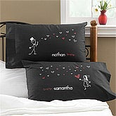 Blown Away By Love© Personalized Pillowcase Set