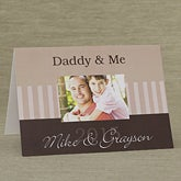 Daddy & Me© Personalized Greeting Card