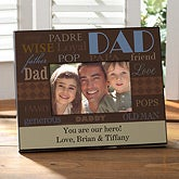 Personalized Father's Day Picture Frame - Ways To Say Dad - 10380