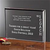 Personalized Sports Coach Gifts - #1 Coach Keepsake - 10385