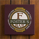 Personalized Bar Wall Artwork - Classic Tavern - 10387