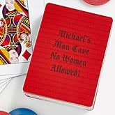 Personalized Playing Cards - Custom Text - 10393