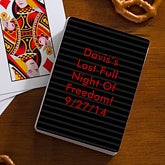 Personalized Bachelor Party Playing Cards - 10394