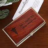 8 Medical Specialties© Personalized Rosewood Business Card Case