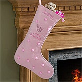 Personalized Christmas Stockings - Pink Princess - 10418