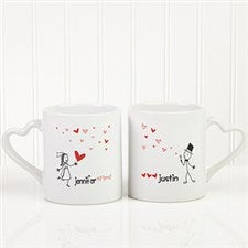 Personalized Couples Coffee Mug Set - Blown Away By Love - 10428