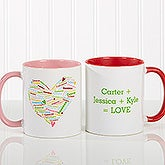 Personalized Coffee Mugs for Mom - Heart of Love - 10430