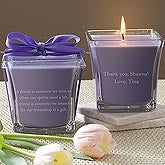 Personalized Bridesmaid Gift Candles - Lavender & Linen