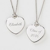 Class Of...© Personalized Sterling Heart Necklace