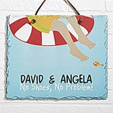 Personalized Swimming Pool Signs - No Shoes No Problem - 10438