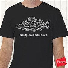 Personalized Fishing T-Shirt for Dads - What A Catch - 10442