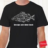 Personalized Fishing T-Shirt for Dad - What A Catch - 10442