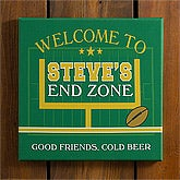Personalized Football Bar Wall Art - End Zone - 10449