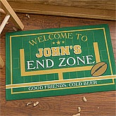 Personalized Football Doormat - End Zone - 10450