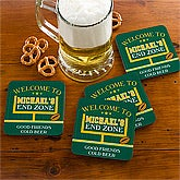 Personalized Football Coasters - End Zone - 10451