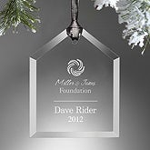 Personalized Corporate Logo Engraved Ornament - 10462