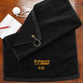 Personalized Corporate Logo Golf Towel - 10471