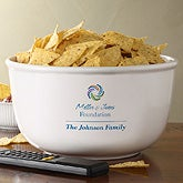 Personalized Corporate Logo Serving Bowl - 10477