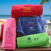 Personalized Corporate Logo Beach Towels - 10479