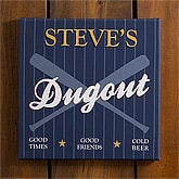 Personalized Baseball Pub Canvas Sign - 10th Inning - 10484