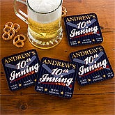 10th Inning Baseball Pub© Personalized Coaster Set