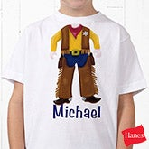 Personalized Boys Clothing - Cowboy or Baseball Player - 10506