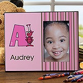 Personalized Girls Picture Frames - Alphabet Animals - 10516
