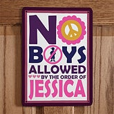 Personalized No Boys or No Girls Allowed Signs - 10518
