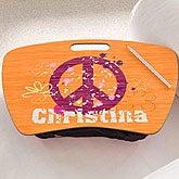 Personalized Lap Desks for Girls - Peace - 10522