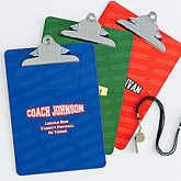 Personalized Coach Clipboards