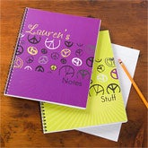 Personalized School Notebooks - Peace Sign - 10529