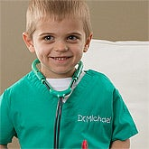 Kids Personalized Doctors Scrubs Costume - 10547