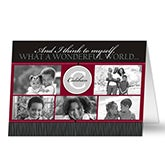 Personalized Photo Christmas Cards - Our Monogram - 10555
