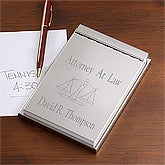 Engraved Silver Notepad for Lawyers - 10558