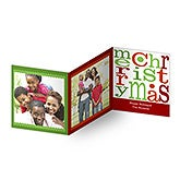Personalized Photo Christmas Cards - Merry Christmas Tri-Fold - 10562