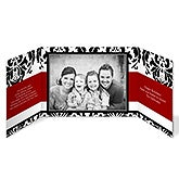 Personalized Photo Christmas Cards - Holiday Damask Gatefold Cards - 10563