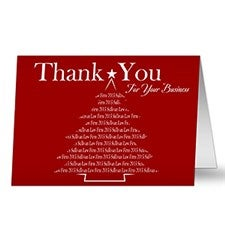 Personalized Corporate Christmas Cards - Thank You For Your Business - 10573