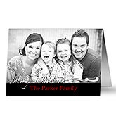 Personalized Photo Christmas Cards - Your Holiday Greeting - 10581