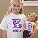 Personalized Doll Clothing - Alphabet Name T-Shirt - 10583