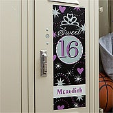 Personalized Sweet Sixteen Locker Decoration - 10590