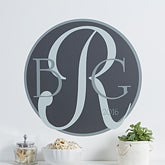 Personalized Vinyl Wall Decal - Monogram - 10614