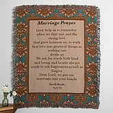 Personalized Wedding Afghan - Wedding Prayer - 10617