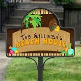 Personalized Yard Stakes - Tropical Paradise - 10625