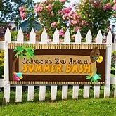 Personalized Summer Party Banners - Tropical Paradise - 10626