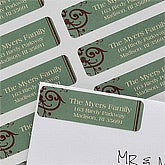 Personalized Return Address Labels - Ornamental Greetings - 10629