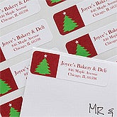 Personalized Christmas Return Address Labels - Christmas Trees - 10630